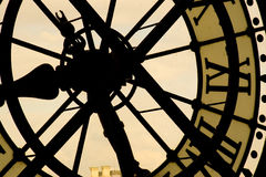 Clock. Looking out of a massive clock in the Musee d'Orsay, Paris Stock Photos