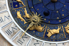 Clock. Astronomical clock in Venice, Italy Stock Image