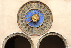 Clock. Astronomical clock in Venice, Italy Stock Photos