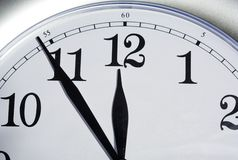 Clock. Close up of a wall clock Stock Photos