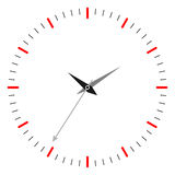 Clock. Simple illustration of clock on wight background Stock Photos