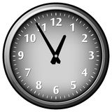 Clock. Gray clock vector work. Time concept. Clock Stock Photography
