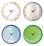 Clock. Illustration of clock collection on white background Stock Photography