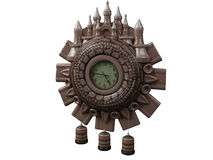 Clock. Three-dimensional model antiquarian clock Royalty Free Stock Photo