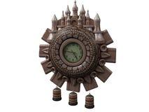 Clock. Three-dimensional model antiquarian clock Stock Illustration