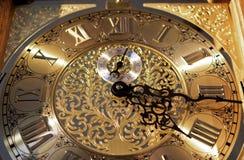 Clock. Detail of a vintage pendulum Stock Photos