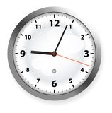 Clock. On the wall, on white Stock Image