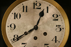 Clock. Old Wall Clock Face Royalty Free Stock Image