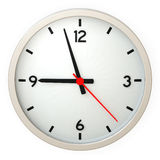 Clock. Wall clock isolated over a white background. This is a 3D rendered picture stock images