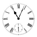 Clock. Eleven on the white wall clocks (isolated Stock Images