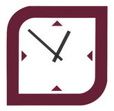 Clock. With special modern design Stock Photography