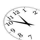 Clock. Illustration of white clock showing time about twelve Stock Image