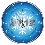 Clock. New year's clock with the inscription 2012 vector illustration