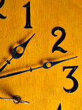Clock. A very old antique wall clock stock image