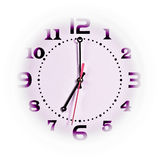 Clock. Seven o'  on withe background Royalty Free Stock Images