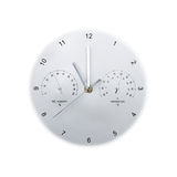 Clock. Silver clock on white background Royalty Free Stock Images