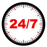 Clock. 24/7 avaliable. Royalty Free Stock Photo
