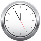 Clock. Modern metal clock without numbers vector illustration