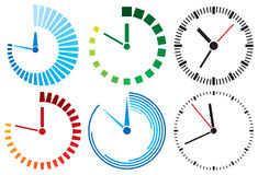 Clock. Icons,  set,  design Stock Photography