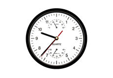 Clock. Isolated on the white background Royalty Free Stock Images