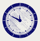 Clock. Doodle style. Scratch vector Stock Photography
