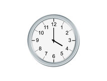 Clock. Analog clock isolated on a white background Royalty Free Stock Photos