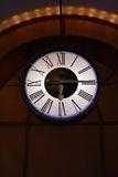 Clock. A illuminated clock in a hotel lobby Stock Images