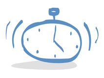 Clock. Blue clock illustration Royalty Free Stock Photography