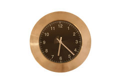 The clock. Photo of wall clock, with speeding seconds Royalty Free Stock Images