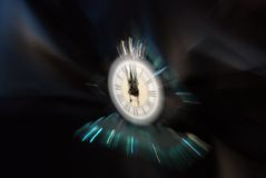 Clock. What time is it? The clock royalty free stock photo
