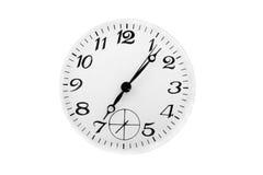 Clock. Isolated on white background Stock Photo