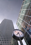 Clock. In front of office buildings, London Royalty Free Stock Image