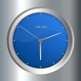 Clock. Concept image - Clock with time flies inscription stock illustration