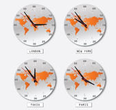 Clock. Easy to resize or change color Stock Image