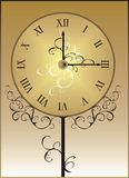 Clock. Face. Illustration. Vector Royalty Free Stock Image