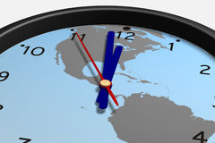 Clock. Simple virtual clock showing almost midnight Stock Photos