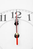 Clock. A clock, noon or midnight Royalty Free Stock Image