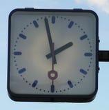 Clock. At a railroad station Stock Image