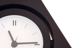 Clock. Time 11:15, white background royalty free stock image