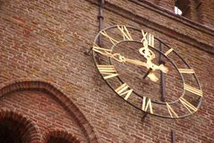 Clock. A clock of a church with roman notation Stock Photos