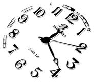 The clock. Black clock details illustration isolated at the white background Royalty Free Stock Photo