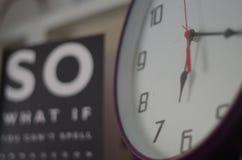 Clock at 6:17 Stock Photo