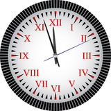 Clock. Face reading about five minutes until twelve Royalty Free Stock Images