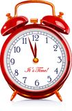 Clock. Golden - Red vintage alarm clock Stock Image