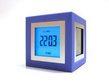 Clock. LCD Clock stock photography