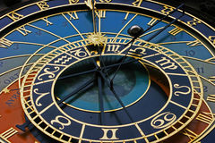 Clock. Closeup of the astronomical clock in Prague, in the Old Town Square.Czech Republic Royalty Free Stock Photography