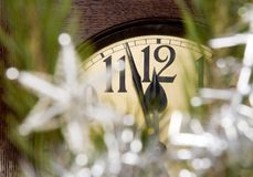 Clock. Christmas decoration with a clock Royalty Free Stock Images