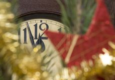 Clock. Christmas decoration with a clock Stock Image