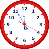 Clock. Face reading about five minutes until twelve Stock Image