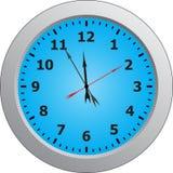 Clock. Face reading about five minutes until twelve Stock Photos